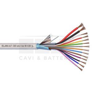 Kábel tienený 2x0,75 + 12x0,22