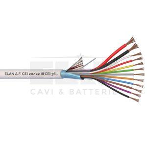 Kábel tienený 2x0,75 + 10x0,22