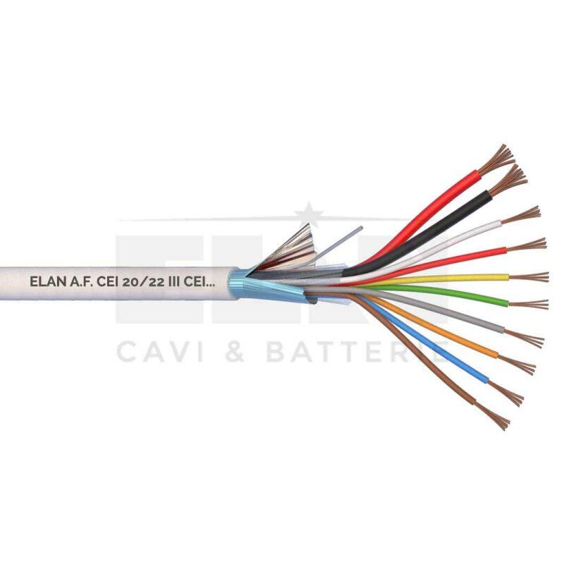 Kábel tienený 2x0,5 + 8x0,22